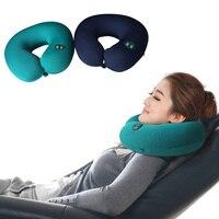1pc Portable Neck Rest Massager U Shape Electric Nap Pillow Massage For Home Office Train Plane
