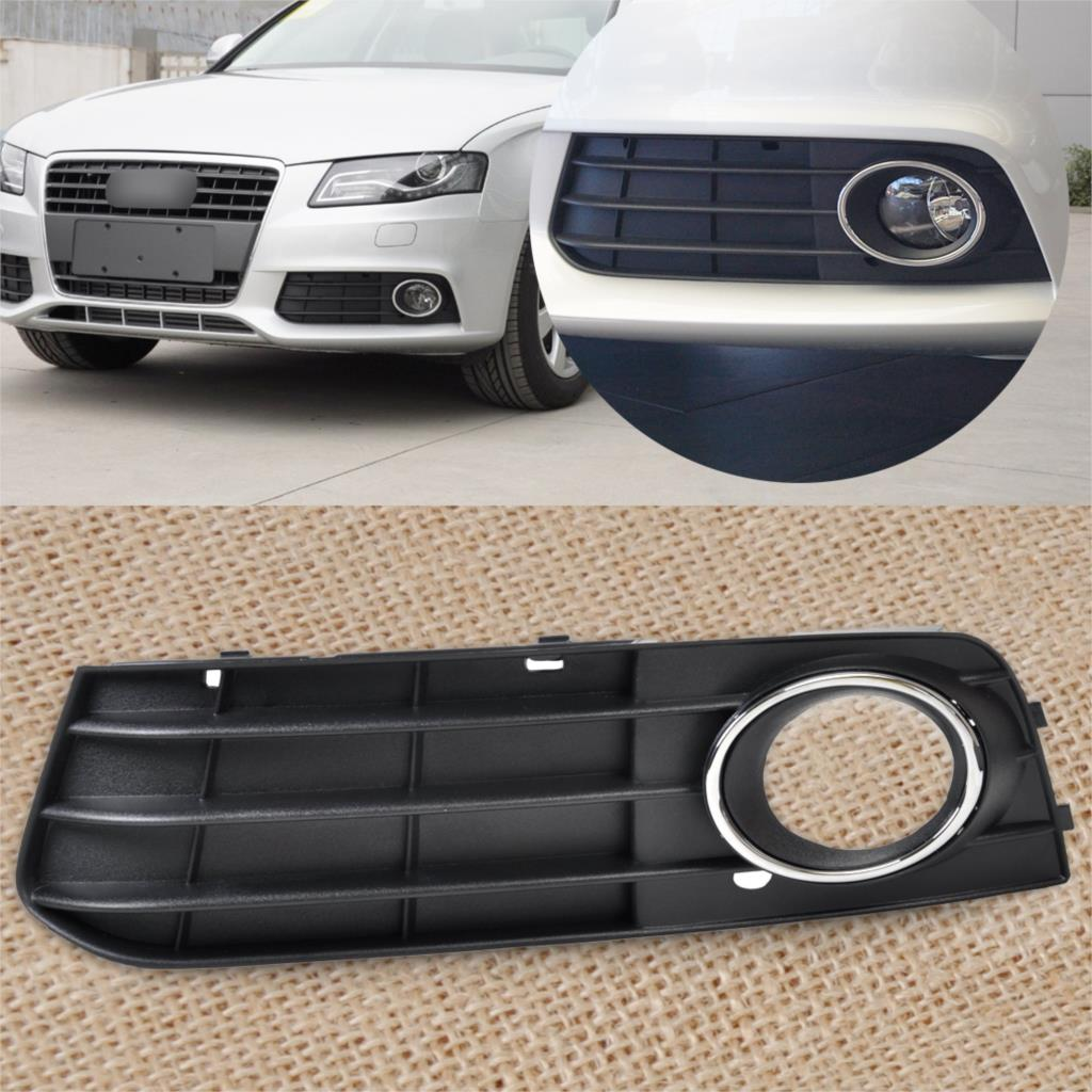 2009 AUDI A4 2008 2010 BUMPER FOG LIHT LAMP COVER GRILLE RIGHT WITH CHROME