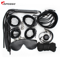 Morease 7 PCS Set Harness Bdsm Sex Toys Restranited Rope Handcuffs Slap Gag Ball Male Female