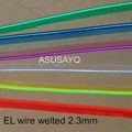 2.3mm  free shipping sewable welt el wire glowing strobe wire 10m flexible neon welted cable with 12 inverter/driver for car