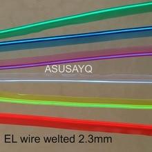 2.3 мм Бесплатная доставка sewable welt EL провода светящийся мерцающий провода 10 м гибкий неон рантом кабель с 12 инвертор/драйвера для автомобиля