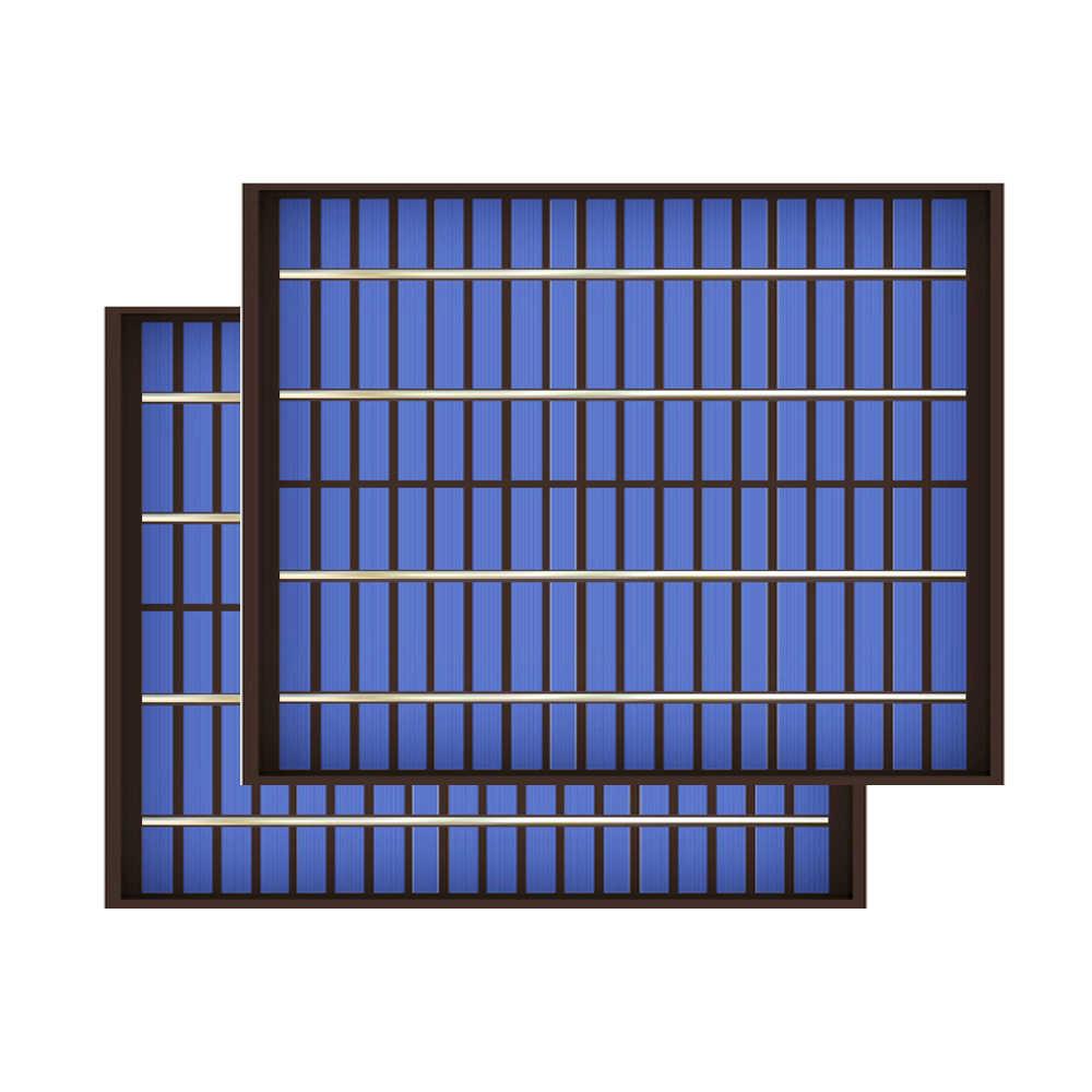 2 Cái 5 10 20W Lượng Mặt Trời Mini Thú Cưng Đa Tinh Thể 5W 10W 20W 18V PV mô Đun Tế Bào Sạc 12V Sạc W Watt