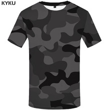 3d Tshirt Black Camo T-shirt Men Camouflage Anime Clothes Military Tshirts Casual Shirt Print Gothic T-shirts
