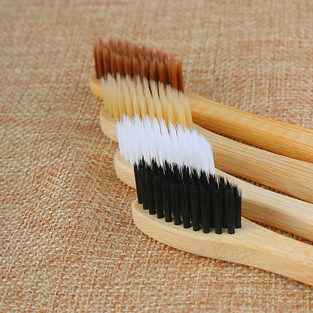1PC Personal Environmental Bamboo Charcoal Toothbrush For Oral Health Low Carbon Medium Soft Bristle Wood Handle Toothbrush(China)