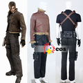 Resident Evil Costumes Resident Evil 4 Leon S Kennedy Cosplay Costume leather jacket leon resident evil