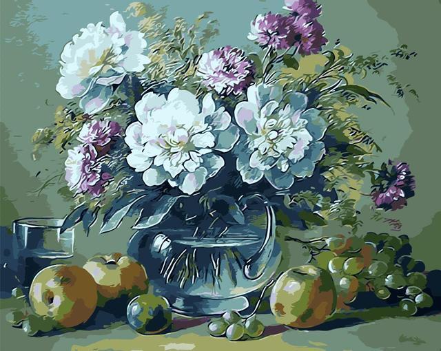 Sans Cadre Bricolage Peinture A L Huile Par Numeros Fruits Pot De