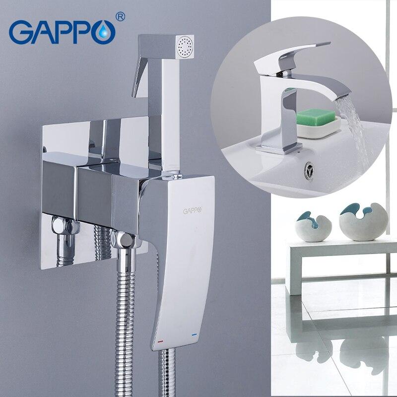 Robinets de lavabo en laiton GAPPO avec robinets de Bidet en laiton Torneira Do Anheiro salle de bains système de douche mélangeurs de douche de pluie robinets de toilette