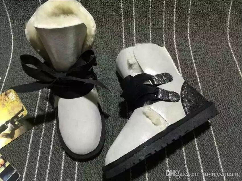 2018 Wholesale retail High quality Women's Classic Snow Boots real Sheepskin  styler boots womens warm shoes free  brand