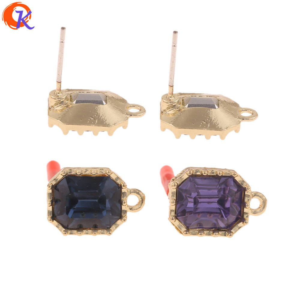 Cordial Design 50Pcs 10*15MM Jewelry Accessories/Earrings Stud/DIY Parts/Square Shape/Earrings Making/Hand Made/Earring Findings
