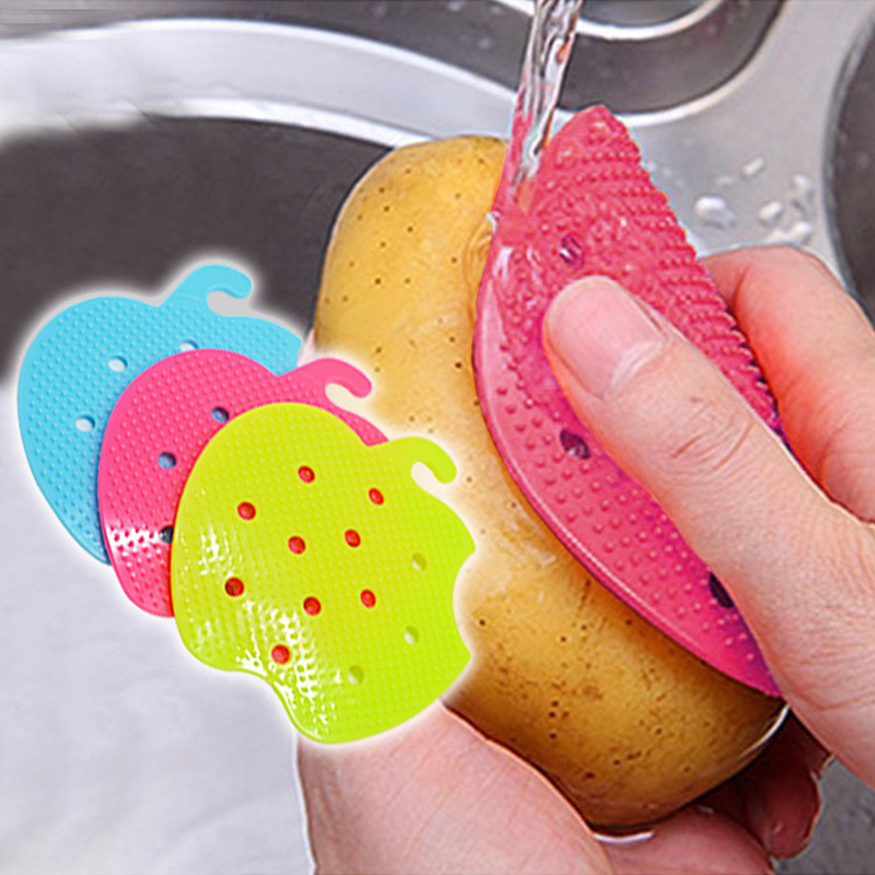 Multi-functional Fruit Vegetable Brush Kitchen Tools Easy Cleaning Brush For Potato Kitchen Home Gadgets Cooking Tool -- -- J2Y