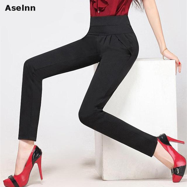 Aselnn 2017 женские Модные брюки шаровары брюки для женщин джинсы леггинсы S-3XL плюс Размеры брюки женские