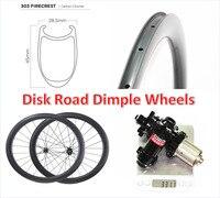 New 303 700C 45mm carbon road disc clincher bike wheels U shape 25mm width brake disk Carbon Fiber Road Bike Wheel