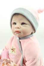"""Kawaii Boneca Bebe Reborn 55cm 22"""" For Sale Reborn Babies Silicone Realistic Dolls With Flannelette Made Warm Rompers Best Gift"""
