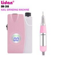 Lidan Nail Polishing Machine 25000 Pen Nail Polishing Machine Charging Portable Electric punte fresa cuticole Fan +3% discount