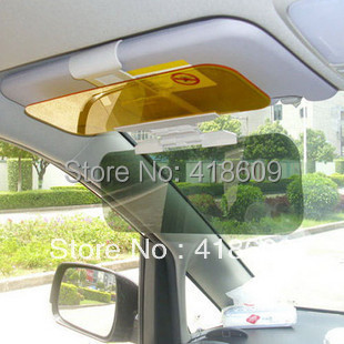 Day Night Snow anti-dazzling glare proof sun visor shade shield sun glass 2 in1 free shipping wholesale