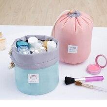 Korea Creative Multi-Function Bucket Travel Large Capacity Drawstring Cosmetic Bag Drum Wash Storage Makeup Organizer
