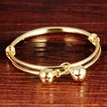 Children Gift  Yellow Gold Filled Expendable Baby Bangle Gift Dia 50mm
