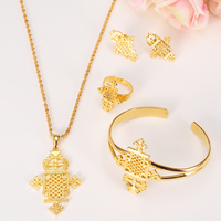 2016 New Arrival Ethiopian Jewelry Sets 24k Gold Plated Sets For African Ethiopian Eritrean Habesha