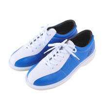 Unisex Bowling Shoes Anti-Skid Outsole Leather Training Sneakers Men Women Breathable Wearable Comfortable Shoes D0613(China)