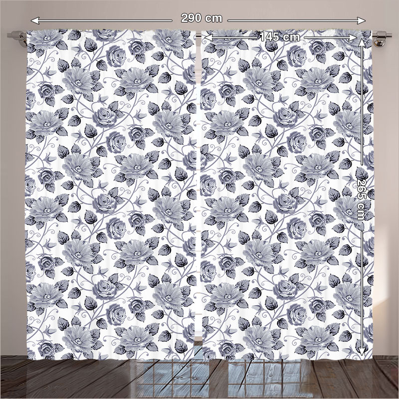 Grey Curtains Living Room Bedroom Floral Patterns Victorian Rhaliexpress: Floral Curtains For Living Room 2 Panels At Home Improvement Advice