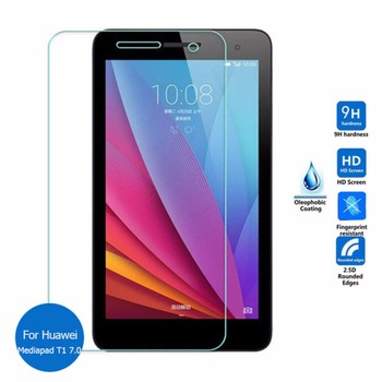 9H 7 Tempered Glass Screen Protector for Huawei Mediapad T1 7.0 T1-701u For Huawei T1 7.0 701u 7 inch Protective Film image