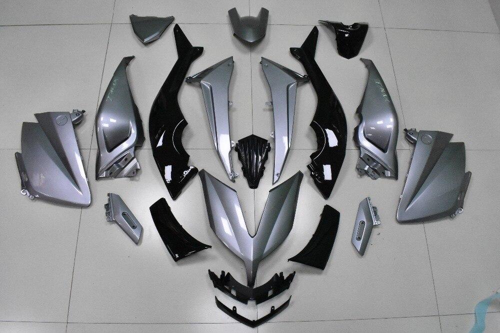 KODASKIN Tmax Grau Farbe 3D ABS Kunststoff Injection Verkleidung Kit Karosserie Schrauben für Yamaha Tmax530 2015 2016