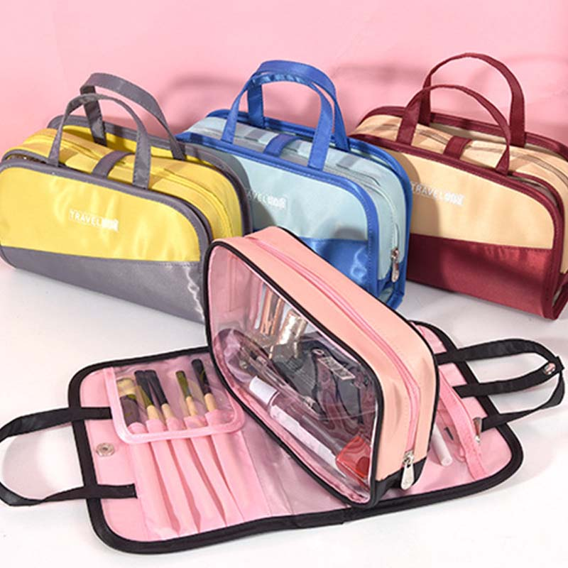 Fashion Cosmetic Bags For Women Waterproof Travel make up polyester Cases Makeup Organizer Necessaries Wash Toiletry Bags