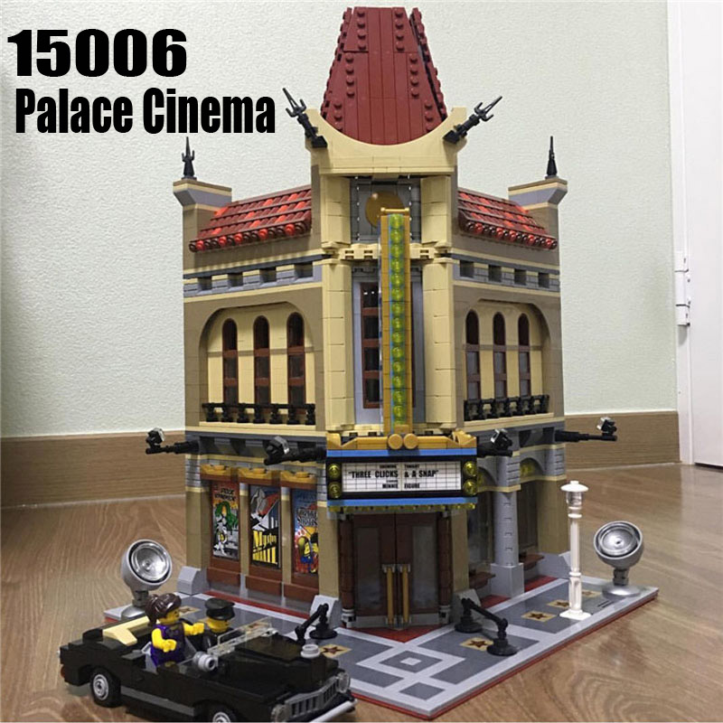 Creator Expert 15006 2354PCS Cinema City Sets Model Building Kits Blocks Bricks Educational Toys For Children