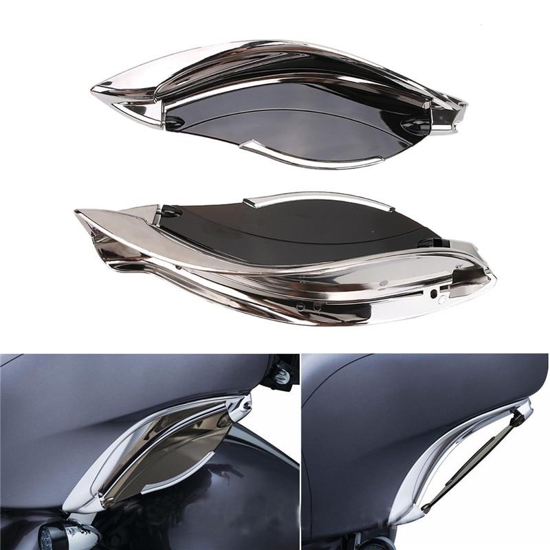 Chrome Tinted Adjustable Batwing Smoke Fairing Side Wing Air Deflectors For Harley Touring 2014-2017 Motorcycle Parts C/5 4pcs blade side windows deflectors door sun visor shield for toyota verso ez 2011 2014