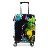 Unisex Cabin Luggages 20 Inch Travelling Trolley Women Men Waterproof PC Suitcase On Wheels Fashion Graffiti Suitcase