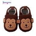 Niñas niños Mono Patrón Prewalkers Infant Bebé de Algodón Se Deslizan En Primeros Caminante Calzado Zapatos Superficial Inferior Suave
