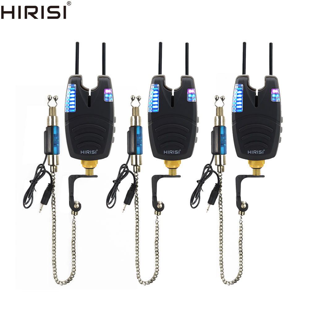 Carp Fishing Alarms Swingers Set Waterproof Fishing Bite Alarms With Snag Bar And Illuminated Drop Off Fishing Swingers Blue LED