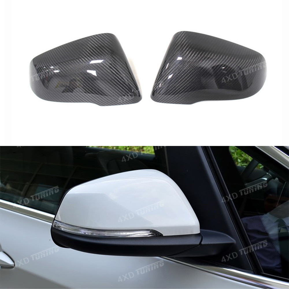 For BMW F45 F46 F48 Carbon Fiber Rear View Mirror Cover 2 X1 X2 Series F45 F46 F48 F39 carbon mirror cover Car Styling 2014 -UP for bmw f10 carbon fiber mirror cover 5 6 7 series f12 f13 f06 rear side view mirror cover car styling replacement style 2014 up