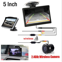 2017 Wireless Parking Set 5 Inch TFT Monitor 800 480 With Car Rear View Camera Reverse