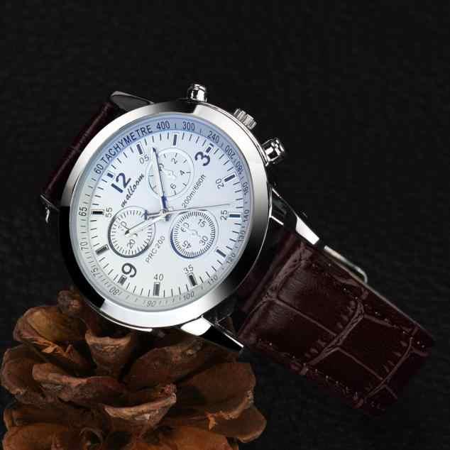 Reloj de pulsera de cuarzo de aleación analógica de cuero PU con diseño Retro para Hombre y mujer reloj de Mujer