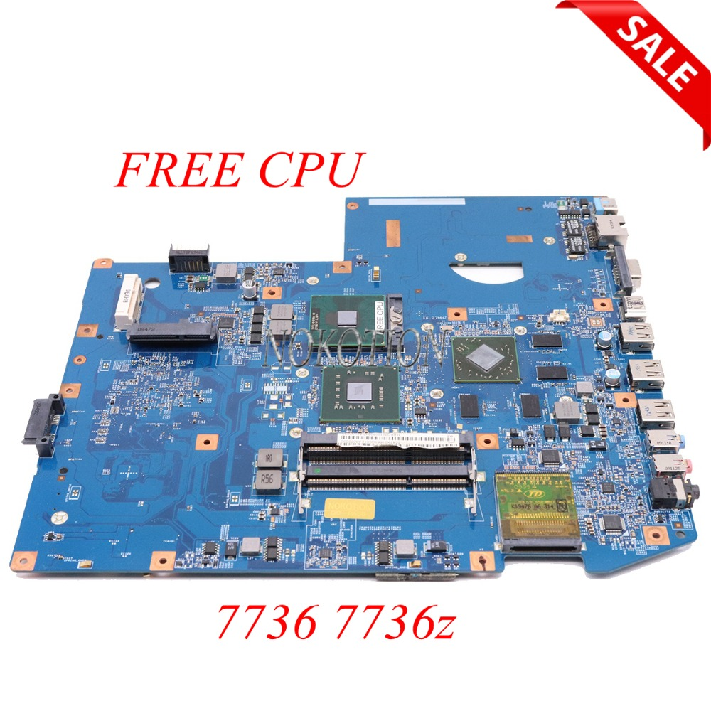 NOKOTION MBPQ701001 Laptop motherboard For Acer aspire 7736 7736z 48.4fx04.11 MBPPM01001 Main board DDR3 GM45 full test FREE CPU nokotion mb tzz02 001 mbtzz02001 for acer aspire 5736 5736z laptop motherboard pew72 la 6631p 15 6 gm45 ddr3 free cpu