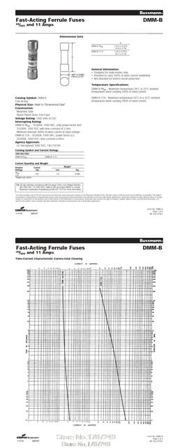 10pcs/lot US BUSSMANN Fuse BUSS FUSE DMM-B-44/100 DMM-44/100 10x35mm 1000V 0.44A 440mA for FLUKE Multimeter Instrument Fuse