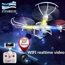 Fineco FX6 4CH wifi fpv drone 2.4G Rc quadcopter with HD 2.0 MP camera FPV drone with Wifi Realtime Video 3 version for you