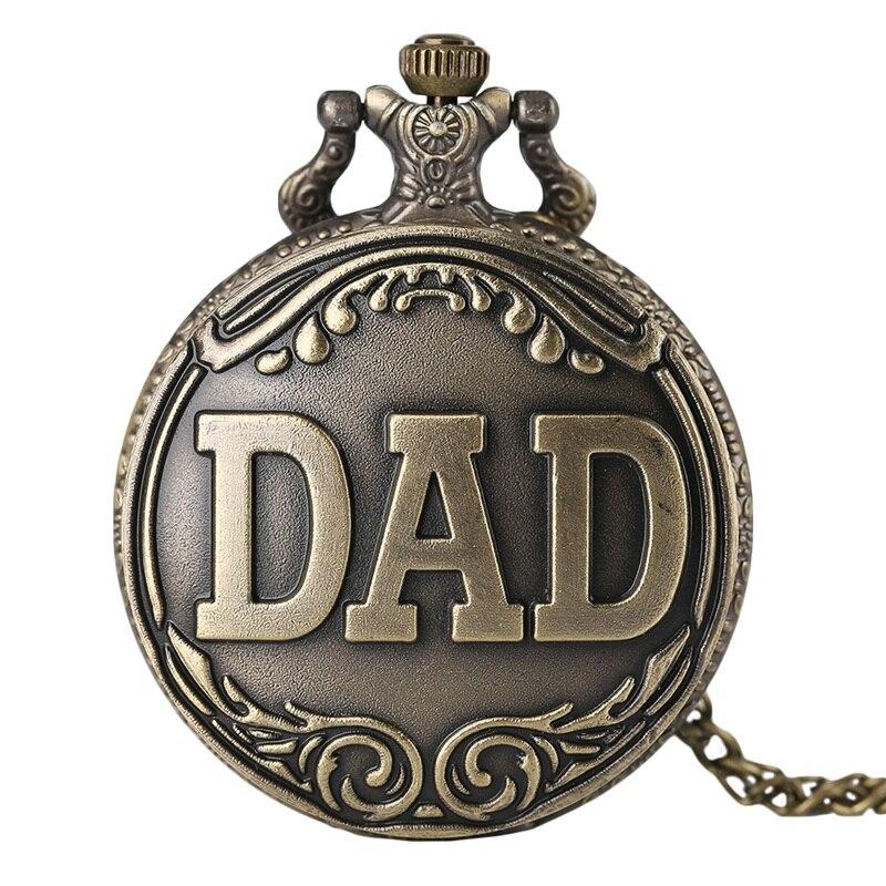 Antike Papa Taschenuhr Anhänger Halskette Bronze Steampunk Herren Pappy Vaters Tag Geschenk Produkte Werden Ohne EinschräNkungen Verkauft Uhren