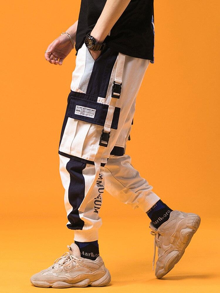 2019 Spring Mens Harem Pants Streetwear Jogger Ribbons Trousers Men Hip Hop Sweatpants Trousers Letter Printed