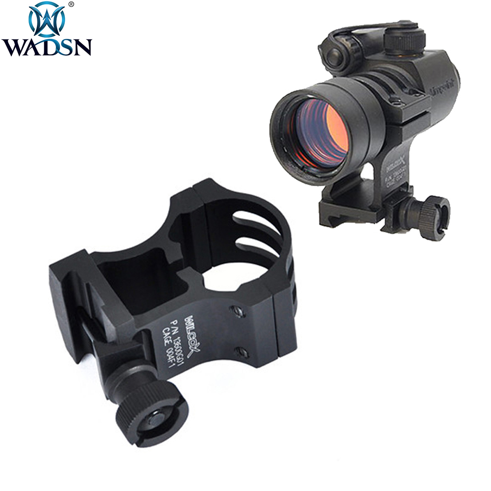 WADSN Airsoft MK18 Comp Mount M2 Wilcox Mount For M2/M3 Type Tactical Sight Gun Weapon Light Torch Mount RIS 20mm Weaver Rail(China)