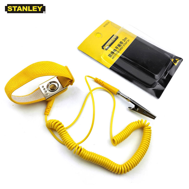 Stanley 1-piece 2m Long Adjustable Antistatic Wristband Anti Static Electricity Bracelet ESD Discharge Belt With Grounding Wire