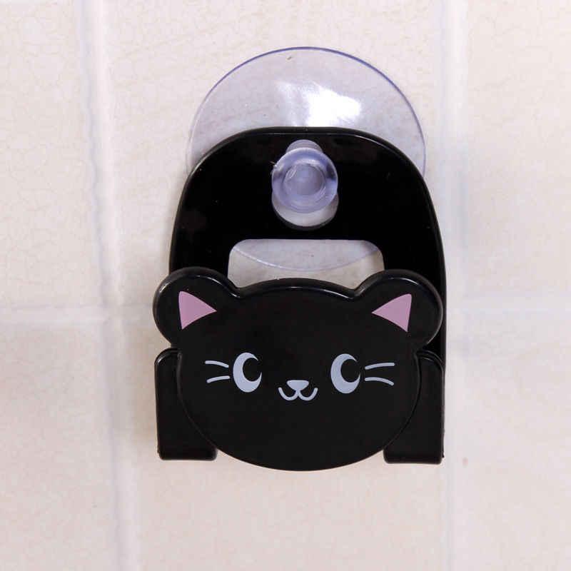 1Pc Spons Houder Carton Print Vaatdoek Met Zuignap Mini Badkamer Planken Zeep Houder Zelfklevende Keuken badkamer Haak