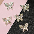 B219  10pcs/lot  3D Alloy  Butterfly Rhinestone Nail Tips DIY  Sticker Accessories Free Shipping