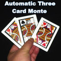 Automatic Three Card Monte (Poker Size,8.8x6.4cm),magic tricks,gimmick,Stage,mentalism,Close up,illusions,Party,comedy