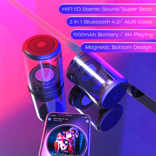 New Crystal TWS Bluetooth Speaker Combination Box Creative Split Magnetic Outdoor Portable Stereo Subwoofer