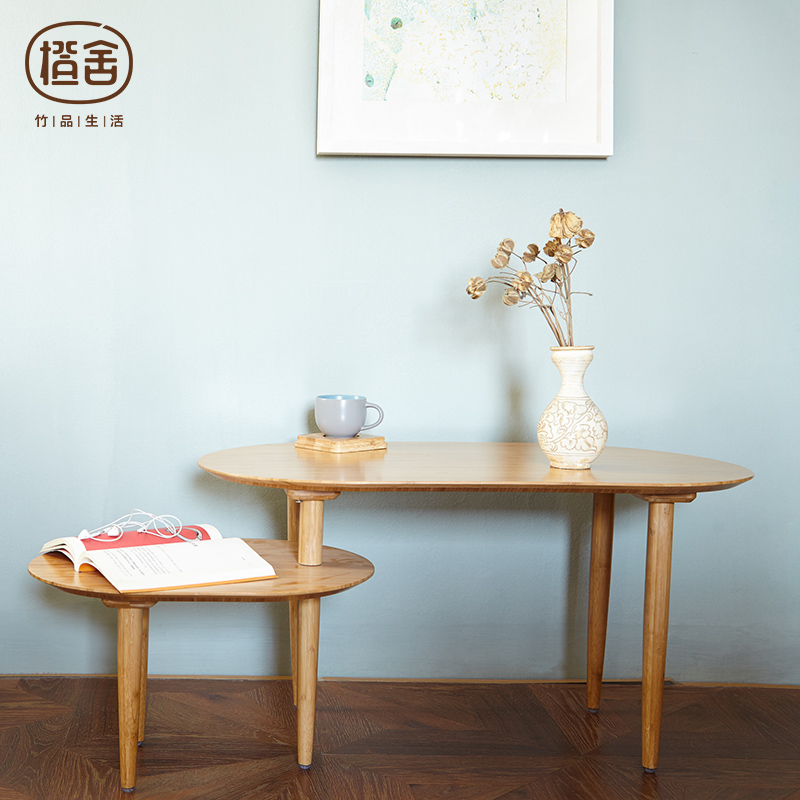 ZEN'S BAMBOO Tea table Folded Coffee table Wooden Kitchen Desk Creative Rotating Table Living room bedroom Furniture furniture hardware hinge folded coffee table mechanism b07