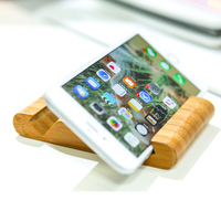 Bamboo Stand Dock Holder Easy Cell Phone Desktop Mount For Kindle iPad Mini/iPhone 7/SE/5s/6/6s Plus Samsung Galaxy HTC Nexus LG