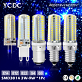 YCDC SMD3014 Mini Led Bulb Lamp E14 G9 G4 B15 E12 Led Crystal Chandelier Lights 3W-9W Home Decor Lighting Replace Halogen Lamp