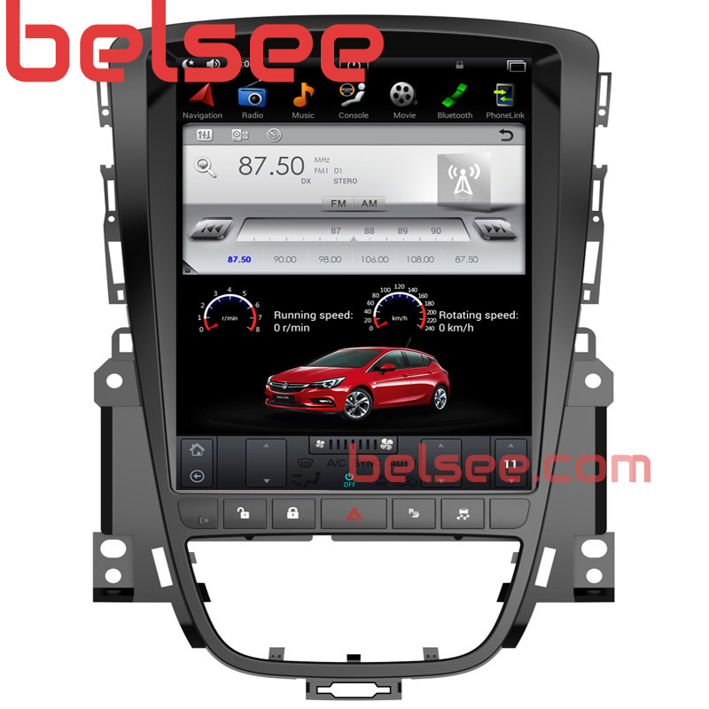 Belsee 10.4 Tesla Style Screen Android 7.1 Multimedia Radio Car DVD GPS Navigation Stereo for Opel Vauxhall Astra J 2009 2015